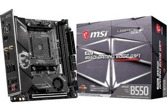 MSI MPG B550I GAMING EDGE Wi-Fi AM4 Mini-ITX Motherboard(AMD RYZEN) HT