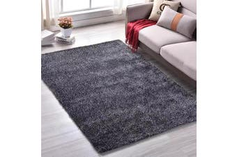 New Modern Designer Anti-slip Shaggy Shag Floor Rug Carpet Black White 200x140cm