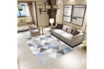 New Designer Modern Low Pile Confetti Indoor Area Floor Rug Carpet Grey Blue Pattern 300x200cm