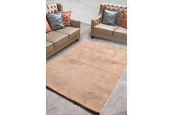 New Designer Fluffy Shaggy Floor Rug Carpet Camel Brown 200x140cm