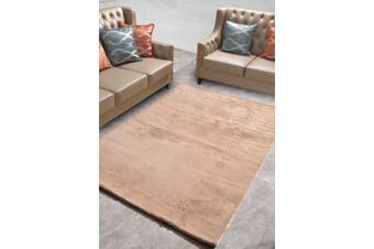 New Designer Fluffy Shaggy Floor Rug Carpet Camel Brown 230x160cm