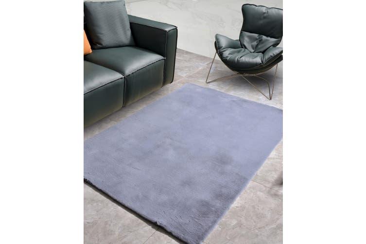 New Designer Fluffy Shaggy Floor Rug Carpet Light Grey 200x140cm
