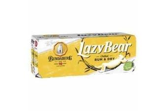 Bundaberg Rum & Dry Lazy Bear Cans 330ml - 10 Pack