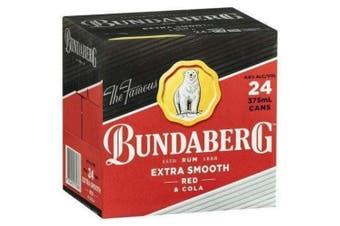 Bundaberg Red Rum and Cola 375ml Cans x 24