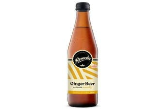 Remedy Kombucha Soda Ginger Beer Bottles 330ml x 12