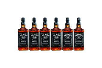 Jack Daniels Old No.7 Tennessee Whiskey 1L - 6 Pack