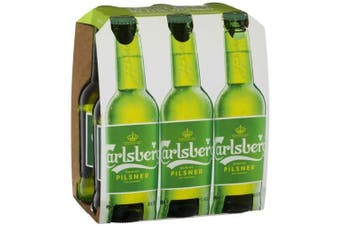 Carlsberg Lager Pilsner Stubbies 330ml - 6 Pack