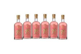 78 Degrees Pink Gin Adelaide Hills 700ml - 6 Pack