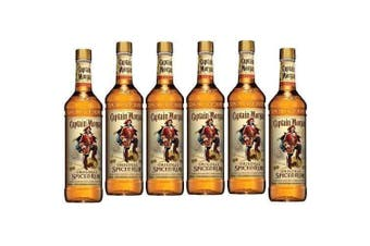 Captain Morgan Spiced Rum 1L - 6 Pack