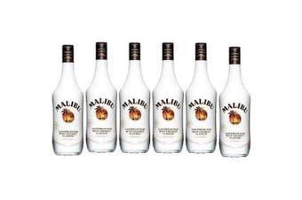Malibu White Rum with Coconut 700ml - 6 Pack