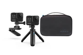 Genuine GoPro Travel Kit 2 - Shorty / Magnetic Swivel Clip / Compact Case