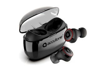 Accutone Vega 2 True Wireless Stereo Earbuds with Multi-Cast Sync - Black