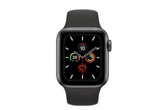 Apple Watch Series 5 (GPS) 40mm Gray Aluminum Case Black Sport Band MWV82