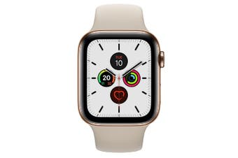 Apple Watch Series 5 (GPS+Cellular) 44mm Gold Steel Case Stone Sport Band
