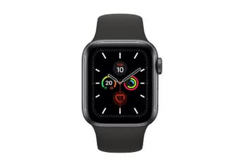 Apple Watch Series 5 (GPS+Cellular) 40mm Gray Aluminum Case Black Sport Band