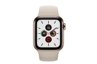 Apple Watch Series 5 (GPS+Cellular) 40mm Gold Steel Case Stone Sport Band