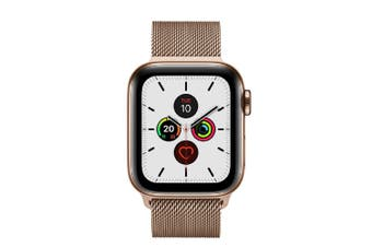 Apple Watch Series 5 (GPS+Cellular) 40mm Gold Steel Case Milanese Loop