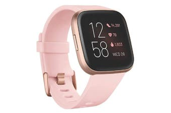 FitBit Versa 2 Health and fitness Smartwatch - Petal / Copper Rose Aluminum