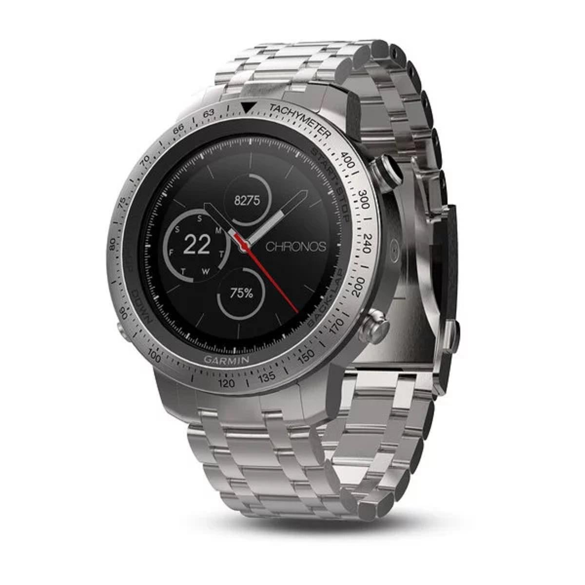 Afholte Garmin Fenix Chronos Steel with Brushed Stainless Steel Band (010 PH-19