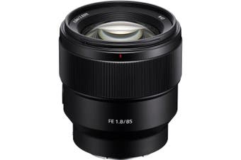 Sony SEL85F18 E Mount Full Frame 85 mm F1.8 Prime Lens - Black