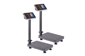 SOGA 2X 150kg Electronic Digital Platform Scale Computing Shop Postal Weight Black