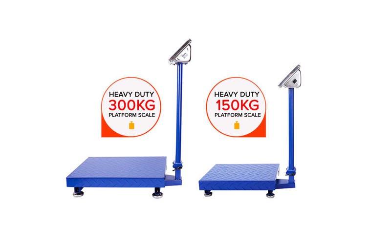 SOGA 150kg Electronic Digital Platform Scale Computing Shop Postal Scale Blue