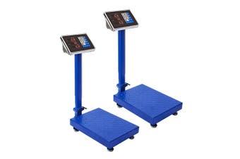 SOGA 2X 150kg Electronic Digital Platform Scale Computing Shop Postal Weight Blue