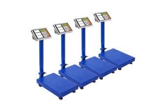 SOGA 4X 150kg Electronic Digital Platform Scale Computing Shop Postal Weight Blue