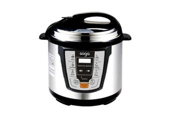 SOGA Electric Stainless Steel Pressure Cooker 8L 1600W Multicooker 16