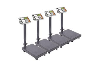 SOGA 4X 300kg Electronic Digital Platform Scale Computing Shop Postal Weight Black
