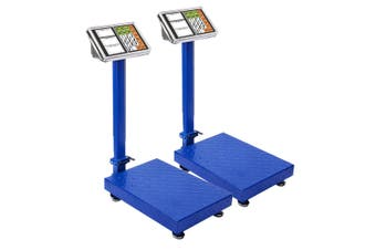 SOGA 2X  300kg Electronic Digital Platform Scale Computing Shop Postal Weight Blue