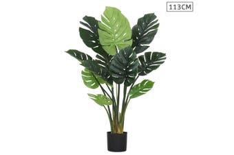 SOGA 113cm Artificial Indoor Potted Turtle Back Fake Decoration Tree Flower Pot Plant