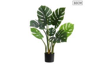 SOGA 80cm Artificial Indoor Potted Turtle Back Fake Decoration Tree Flower Pot Plant