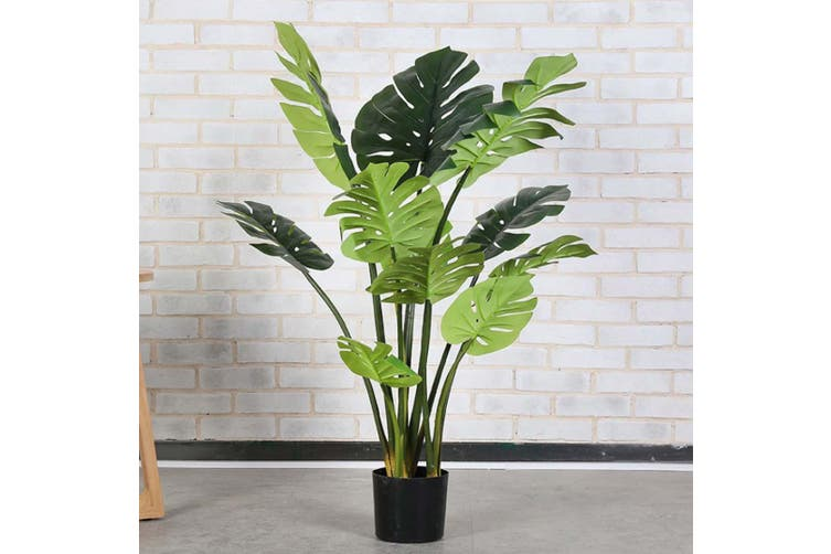 SOGA 2X 80cm Artificial Indoor Potted Turtle Back Fake Decoration Tree Flower Pot Plant