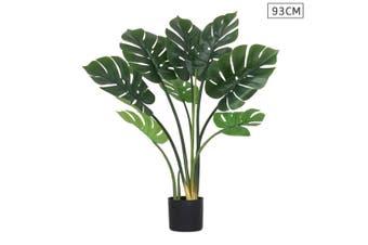 SOGA 93cm Artificial Indoor Potted Turtle Back Fake Decoration Tree Flower Pot Plant