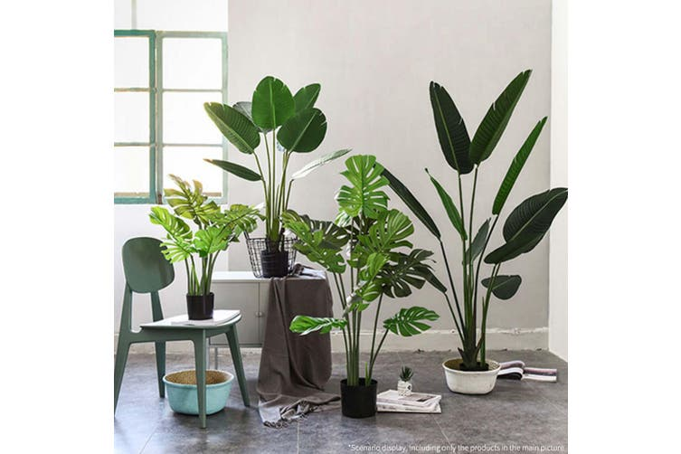 SOGA 2X 120cm Artificial Green Indoor Traveler Banana Fake Decoration Tree Flower Pot Plant