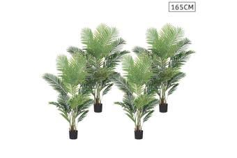SOGA 4X 165cm Artificial Swallowtail Sunflower Fake Decoration Tree Flower Pot Plant