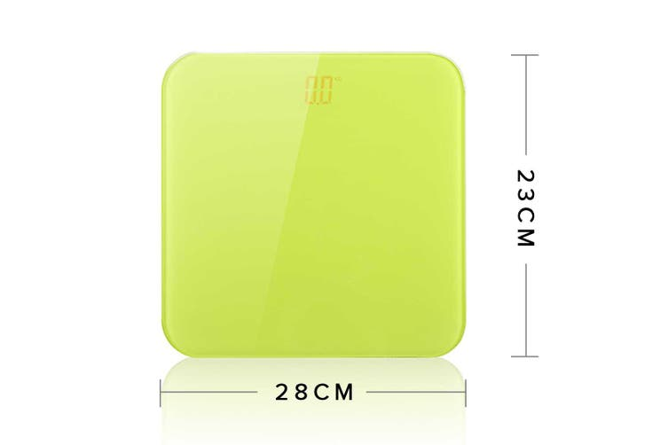 SOGA 180kg Digital Fitness Weight Bathroom Gym Body Glass LCD Electronic Scales Green