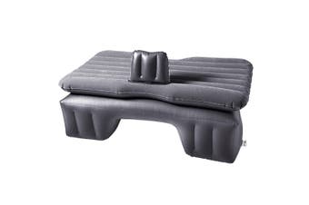 SOGA Inflatable Car Mattress Portable Travel Camping Air Bed Rest Sleeping Bed Grey