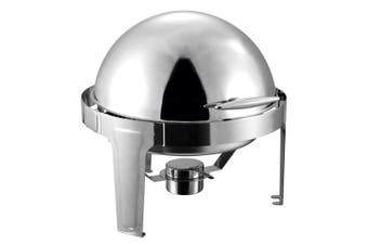 SOGA 6L Stainless Steel Chafing Food Warmer Catering Dish Round Roll Top