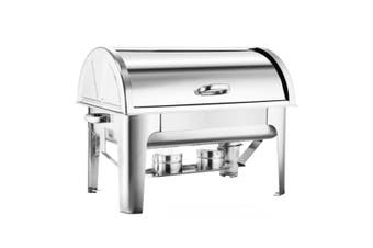 SOGA 4.5L Dual Tray Stainless Steel Roll Top Chafing Dish Food Warmer