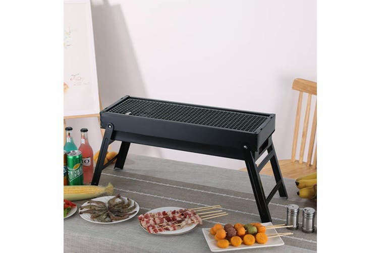 SOGA 60cm Portable Folding Thick Box-type Charcoal Grill for Outdoor BBQ Camping