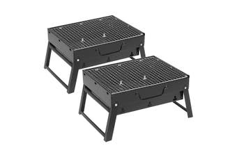 SOGA 2X Portable Mini Folding Thick Box-type Charcoal Grill for Outdoor BBQ Camping