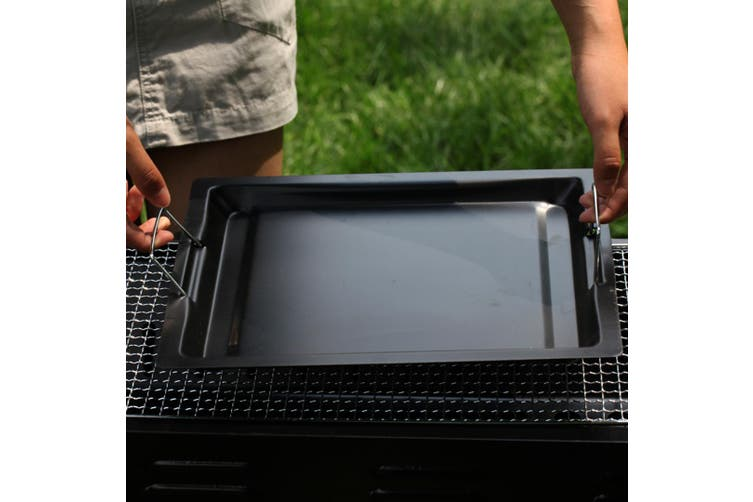 SOGA 2X 72cm Portable Folding Thick Box-Type Charcoal Grill for Outdoor BBQ Camping