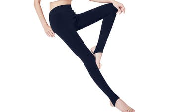 Warm Winter Thick High Waist Slim Skinny Women Leggings Stretchy Pants Blue