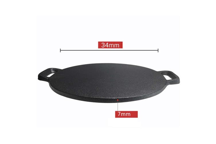 SOGA Electric Smart Induction Cooktop and 34cm Cast Iron Induction Crepe Pan Baking Cookware