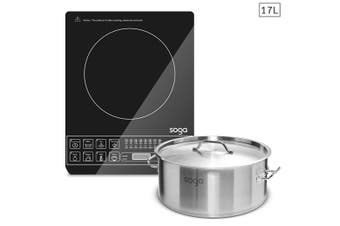 SOGA Electric Smart Induction Cooktop and 17L Stainless Steel Stockpot