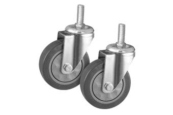 "SOGA 2 x 4"" Heavy Duty Polyurethane Swivel Castor Wheels"