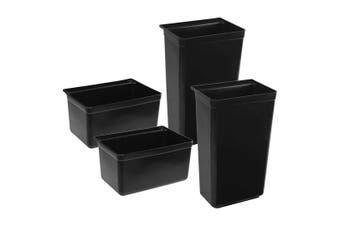 SOGA 2x Food Trolley Large & Small Utility Cart Waste Storage Bin