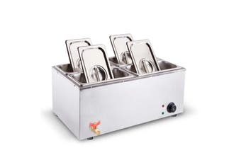 SOGA Stainless Steel Electric Bain-Maire Food Warmer with Pans and Lids 4*4.5L
